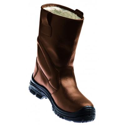 Bottes de sécurité - PIEMONTITE S3 - composite fourrée cuir fleur buffle imperméable marron - COVERGUARD | 9PIEM