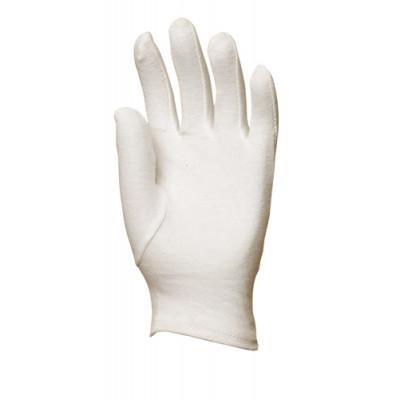 Gants en coton jersey blanchi, fourchette - Eurotechnique