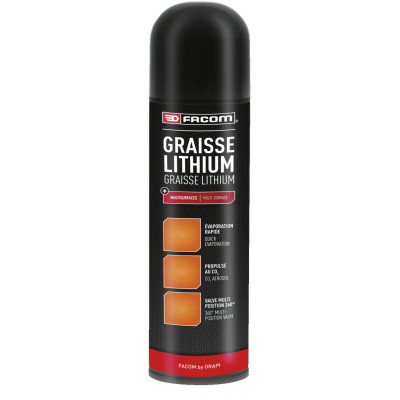 Graisse lithium Aérosol 650 / 400 ml 131002 | FACOM BY ORAPI