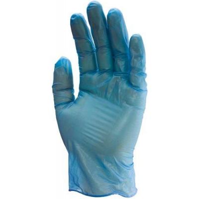Gants à usage unique VINYLE BLUE poudré 5746