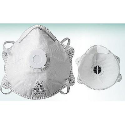 Masque coque avec soupape FFP2 boîte de 10 SUPAIR 23206