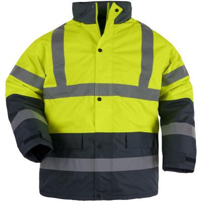 Parka haute visibilité ROADWAY - matelassée polyester - jaune / marine - Coverguard | 7ROAY