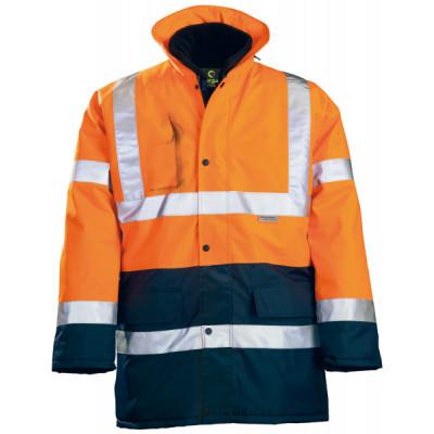 Parka polyester 4 en 1 HI WAY Hi-Viz - orange / marine - Coverguard | 70559