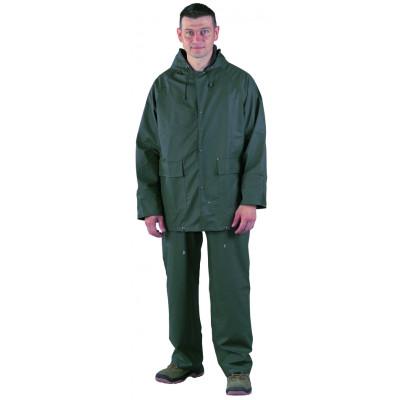 Ensemble de pluie 300 gr PU / PVC - Vert  - Coverguard | 50900