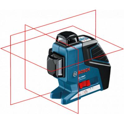 0601063309 Laser lignes Bosch GLL 3-80 P Professional outils Bosch Bleu
