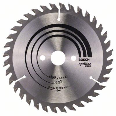 2608640593 Lame de scie circulaire Optiline Wood Accessoire Bosch pro outils