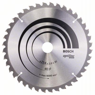 2608640435 Lame de scie circulaire Optiline Wood Accessoire Bosch pro outils