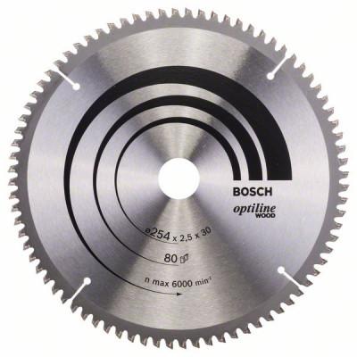 2608640437 Lame de scie circulaire Optiline Wood Accessoire Bosch pro outils