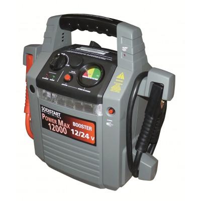 Booster de démarrage POWER MAX 12000 - batterie 12 V / 24 V - Sodise | 04026