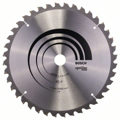 2608640440 Lame de scie circulaire Optiline Wood Accessoire Bosch pro outils