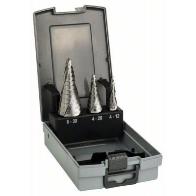 2608587426 Fraises étagées HSS, assortiment de 3 pièces Accessoire Bosch pro outils