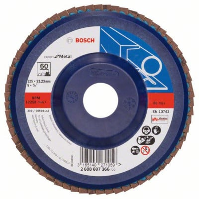 2608607366 Plateau à lamelles X551, Expert for Metal Accessoire Bosch pro outils