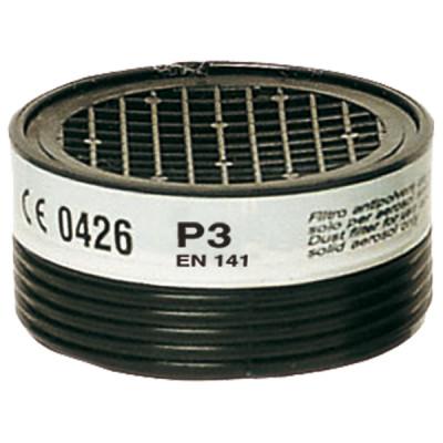 Cartouches filtrantes pour demi-masque P3 - poussière toxique - lot de 2 pièces - SUP AIR | 22170