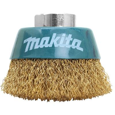 Makita D-39746 Brosse boisseau à fils acier laitonés et ondulés pour meuleuses d'angle 230 mm