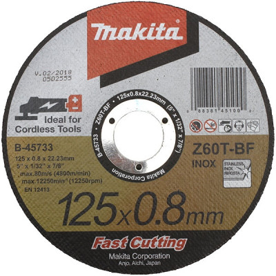 Makita B-46953 Disques à tronçonner métal et inox pour meuleuses à batterie