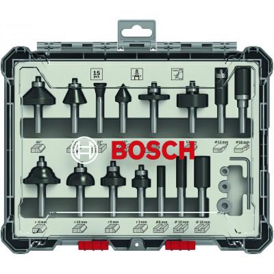 Coffret de 15 Fraises mixtes 8MM Bosch Professional | 2607017472
