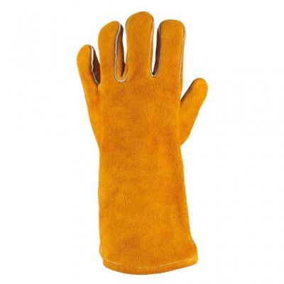 Gants de protection courts en cuir pour soudeur, L KS Tools | 985.7035
