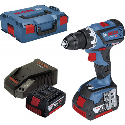 Perceuse-visseuse sans-fil GSR 18V-60 C + 2 batteries 4,0 Ah et L-BOXX Bosch Professional   0615990J45