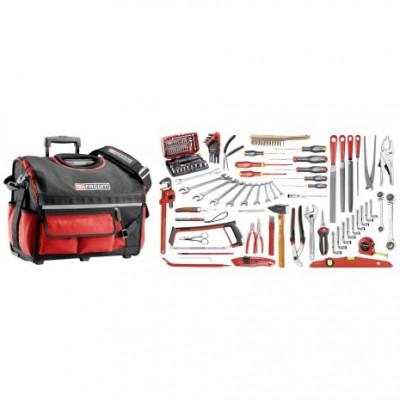 Sélection services généraux 112 outils + caisse à outil textile BS.R20 Facom | BSR20.SG4A