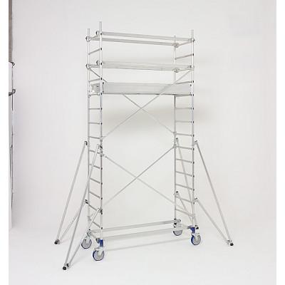 Echafaudages roulants aluminium Echafaudage roulant cross 180 plancher 2,84m Tubesca-Comabi   22404630