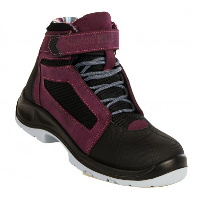 Chaussures de sécurité montantes pour femmes Air Top Lady Aubergine - S1P SRC ESD - Gaston Mille | AFHA1