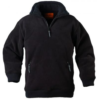 Pull Noir polaire ANGARA - 350 g/m² - COVERGUARD | 5PANN
