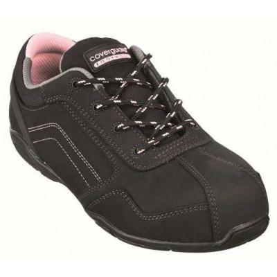 Chaussures de sécurité RUBIS Low S3 - composite nubuck noir et coutures rose - Coverguard   9RUBL